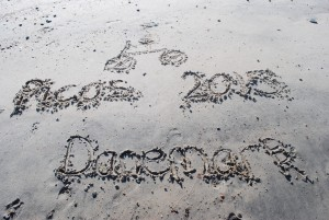 dessin sur la plage : picos 2015 danemark