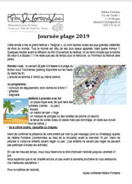 Journée plage 2019