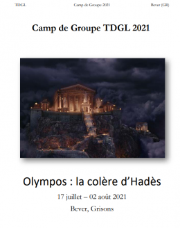 Couverture brochure de camp